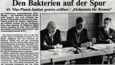 Foundation of the Max Planck Institute for Marine Microbiology 25 years ago