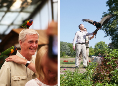 Our company outing took us to the bird park in Walsrode - where our founding directors Friedrich Widdel and Bo Barker Jørgensen got in touch with the park residents.