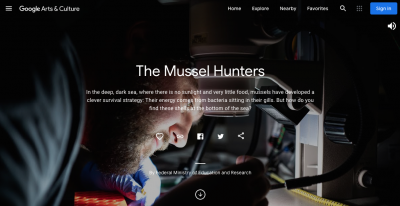 One of the Online Exhibits: The mussel hunters from the Max-Planck-Institute for Marine Microbiology